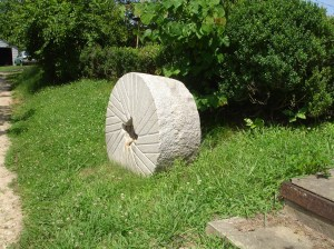 Grist Mill Wheel as Yard Art