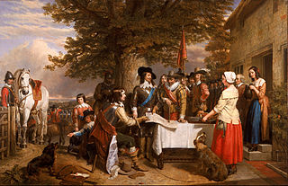 The Eve of the Battle of Edge Hill 1642 Artist Charles Landseer/courtesy of Wikimedia Public Domain