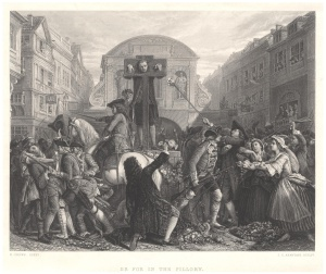 Daniel Defoe in the Pillory Author: James Charles Armytage, courtesy of Wikimedia Commons