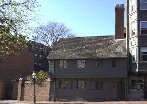 Paul Revere House, North End, Boston, MA in 2009 Author: Jameslwoodward, courtesy of Wikimedia Commons