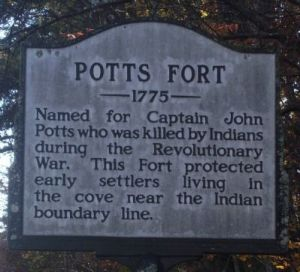 Photo taken by Stanley and Terrie Howard September 10, 2010 on Potts Fort Marker website