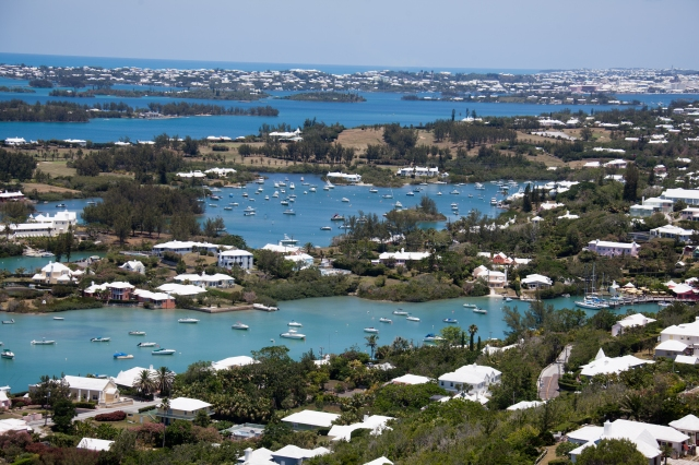 Bermuda: View from the top of Gibbs Lighthouse Author: Mike Onopeza Courtesy of Wikimedia Commons