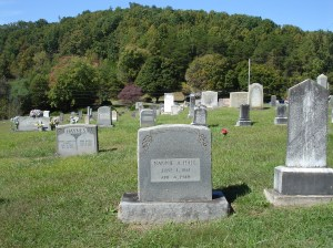 Well-populated Montford Cove Baptist Church cemetery Photo in Fall of 2014