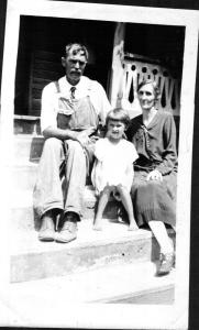 Mary Glenn and her parents, Addie and Jim Burgess