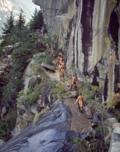 On Location at Chimney Rock for The Last of the Mohicans