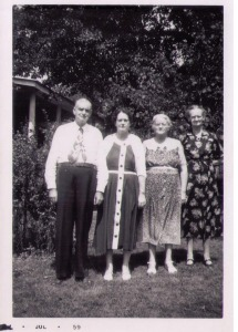 Reginald, Laylas Edney, Eula Lawing, Anlo Womack July 1959