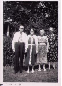 Reginald, Laylas Edney, Eula Lawing, Anlo Womack July 1959