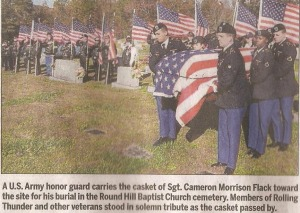 Article by Mike Conley in McDowell News at Round Hill on November 2, 2014