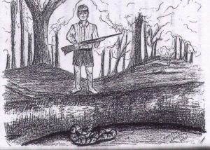 Reginald and the Snake by Ramona Nanney 1990 Images of the Blue Ridge