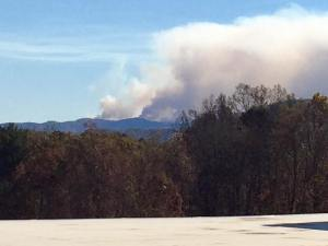 Fire at Chestnut Knob in the South Mountains November 12, 2016 Thx to Sandy Hancock for the photo