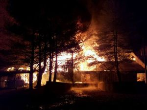 Fire on Boy Scout Property November 13, 2016